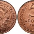5 копійок СРСР 1924 року
